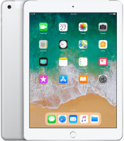 Apple iPad LTE 128GB 2018 Tablet, stříbrný