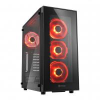 Sharkoon TG5 PC skříň černo-červená