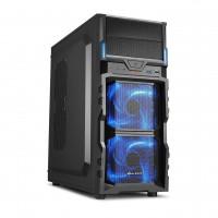 Sharkoon VG5-V PC skříň černo-modrá