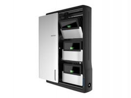 Ergotron Zip12 Charging Wall Cabinet - Skříňka pro 12 netbooků/tabletů - černá, stříbrná - velikost (DM12-1006-2)