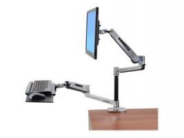 Ergotron WorkFit-LX Sit-Stand Desk Mount System - Montážní sada ( kloubové rameno, žerď, rameno klá