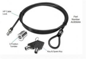 HP AU656AA, kabelový zámek pro dokovací stanice