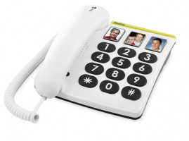 Doro PhoneEasy 331 PH bílý, stolní telefon