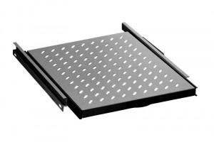 """Digitus 19"""" výsuvná police černá , nosnost 35kg , 465x525x30mm"""