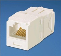 UTP modul RJ45 MiniJack-TG kat.6, arktický bílý - balení 1 ks (CJ688TGAW)
