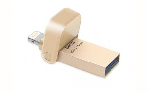 Adata i-Memory Flash Drive AI920, 64GB, Lightning / USB 3.1 Gen1, gold (AAI920-64G-CGD)