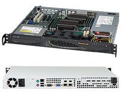 "SuperChassis 512F-350B - 1U, 350W PS (Gold Level), 2x 3.5"" Internal HDD bays (CSE-512F-350B)"
