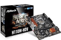 ASRock MB Sc LGA1151, H110M-HDV, Intel H110, 2xDDR4, VGA, mATX