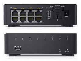 Dell Networking X1008P Smart Web Managed Switch 8x 1GbE PoE ports/X1008X1008P Limited Lifetime Hardware Warranty - Mini