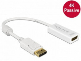Delock Adaptér Displayport 1.2 samec > HDMI samice 4K pasivní bílý (62610)