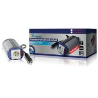 HQ -INV150WU-12 - měnič 12V/230V, 150VA, USB, zásuvka Shukko