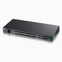 ZyXEL MES3500-24F, 28-port Metro Managed Layer2+ switch: 24x 100Mbps open SFP + 4x Gigabit combo (RJ45/SFP), QoS, ACL