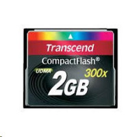Transcend Compact Flash 2GB Karte SLC 300X (TS2GCF300)
