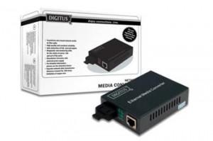 DIGITUS Media Converter, Singlemode 10/100Base-TX to 100Base-FX, Incl. PSU SC connector, Up to 20km (DN-82023)