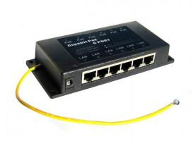 Gigabitový stíněný 6-portový pasivní POE panel