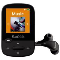 SanDisk Sansa Clip Sports 8 GB, FM rádio, MP3, WMA, microSDHC, černá