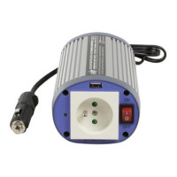 HQ INV150WU24F - Měnič napětí 24V/230V, 150 W, USB, zásuvka CZ