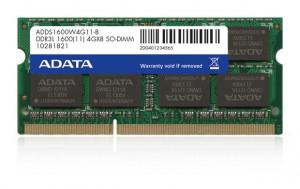 ADATA 4GB 1600MHz DDR3L CL11 SODIMM 1.35V (pro NTB)