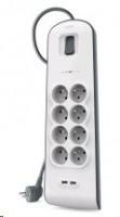Belkin Sorge Plus 8-fold incl. 2 x USB 2,4A (BSV804VF2M)