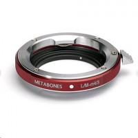 Metabones adaptér Leica M na MTF červená