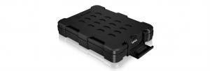 """Icy Box Externí vodotěsné pouzdro pro 2,5"""" SATA SSD/HDD, USB3.0, IP65 černá"""