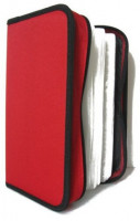 Pouzdro na CD/DVD- 128ks, zapínací červené (29046)