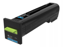CS820, CX82x, CX860 Cyan Return Programme Toner Cartridge - 8 000 stran (72K20C0)