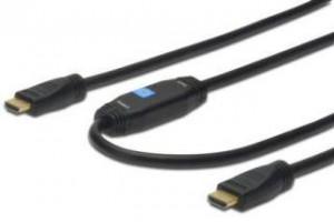 HDMI kabel Digitus 2x samec typ A, 15m s/1.4, černý