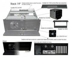 """EUROCASE rack 19"""" 4U IPC 4U-500 bez zdroje, černá"""
