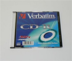 Verbatim CD-R [ 200ks/kr., 700MB, 52x, slim jewel pouzdro ]