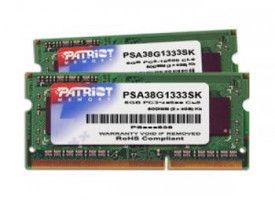 Patriot 8GB (Kit 2x4GB) Podpisová Line pro Apple 1333MHz DDR3 CL9 1.5V SODIMM