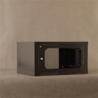 """Netrack závěsný rack 19"""" 6U/400mm, skleněné dveře, barva grafit (019-060-400-012)"""