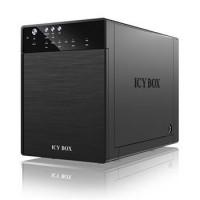 """Icy Box externí box pro 4xHDD 3.5"""", SATA do USB 3.0, eSATA, JBOD, černý (IB-3640SU3)"""