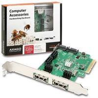 AXAGO PCIe 2-Lane řadič 4x int./2x ext. SATA 6G HD (PCES-SH4)