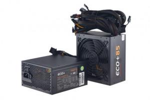 EUROCASE zdroj ECO+85 600W ATX 14cm fan, PFC ATX 20/24pin, 6x SATA (ATX-600WA-14-85)