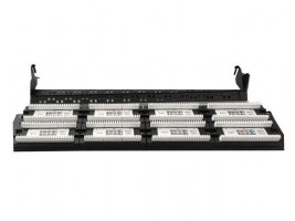 "Gembird 19"" patch panel 48 port 1U cat.5e s rear kabel management, černá barva (NPP-C548CM-001)"