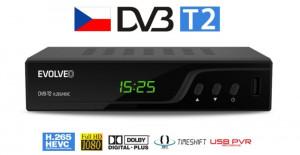 EVOLVEO Omega T2, HD DVB-T2 H.265/HEVC multimediální rekordér, HDMI, SCART, USB, (DT-3060-T2-HEVC)