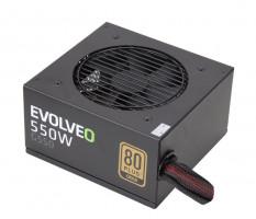 EVOLVEO G550 zdroj 550W, eff 90%, 80+ GOLD, aPFC, retail (E-G550R)