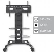 """Techly Mobilní stojan pro TV LCD/LED/Plazma 32""""-70"""" VESA nastavitelný 2 police (022618)"""