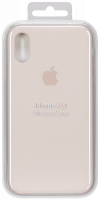 Apple iPhone XS Silicone Case Pink písek