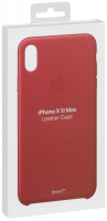 Apple iPhone XS Max Leather Case (PRODUCT)RED